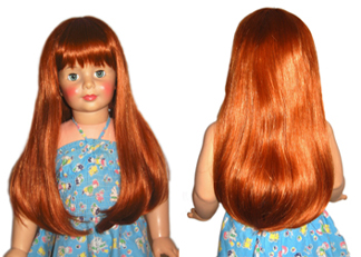 What are some sources of 18-inch doll wigs?
